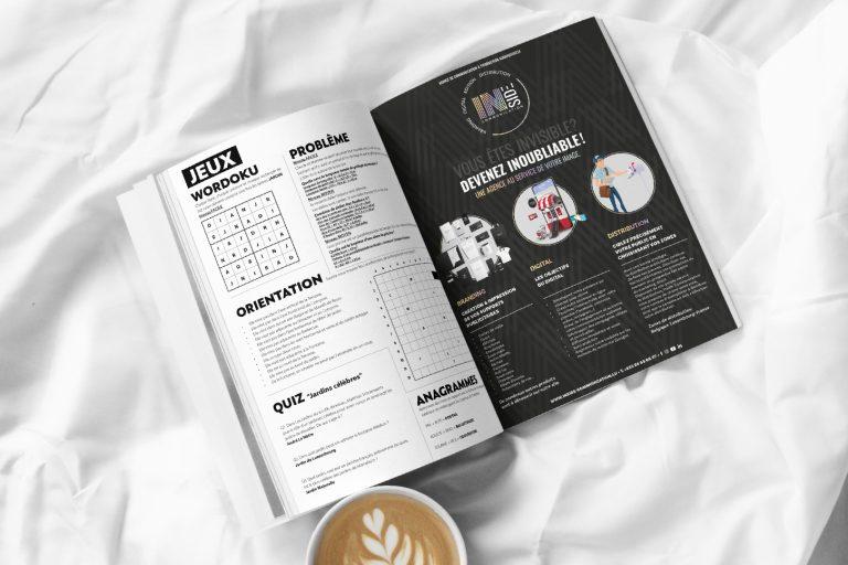 Image d'un magazine à la page des jeux.